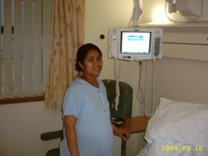 Mayra Cabrera before giving birth at GWH Swindon
