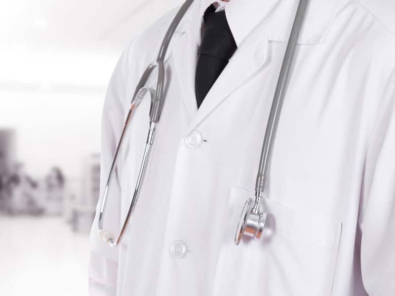 GP Doctor wearing white