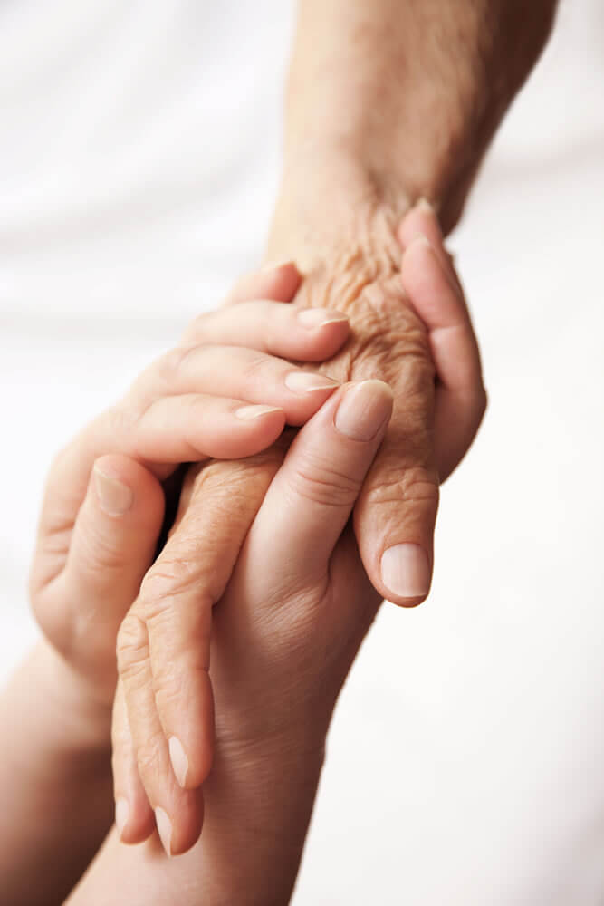 caring for the elderly hands