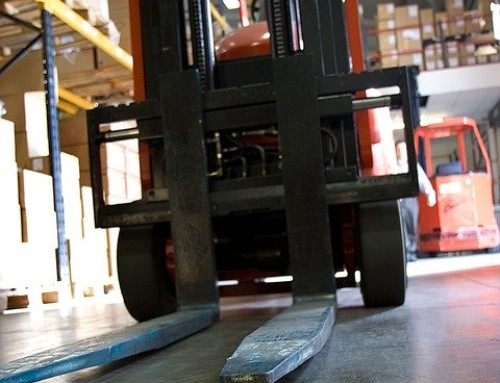 Forklift accident at work causes fractured knee