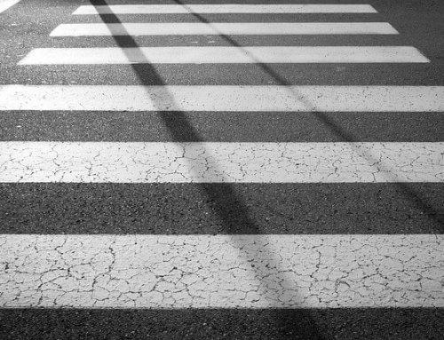 Pedestrian run down on zebra crossing
